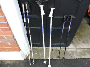3 pairs of Down hill ski poles for sale