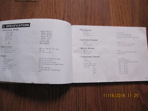 1972 Suzuki T500J Owners Manual Sarnia Sarnia Area image 4