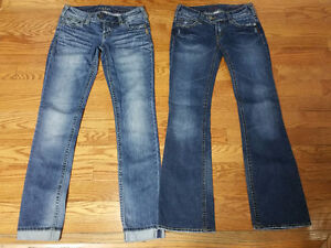 2 Pairs - NEW Silver Jeans!!!