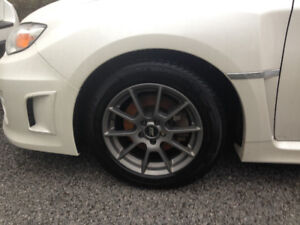 Subaru Snow tires on aluminum Rims