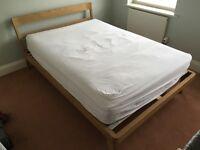 Habitat Tatsuma Ash Double Bed - as new