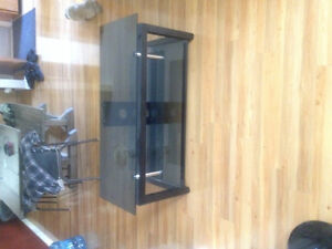Glass tv stand . Obo Prince George British Columbia image 1