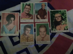 Variety of rare actors \ actress movie cards for sale \trade!!!!
