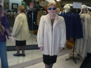 Peral Mink Jacket in storage at the Fur Boutique London ON