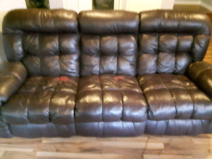 Leather Sofa and reclining chair