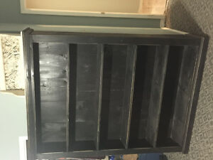 Custom Crafted Black Amish Book Case