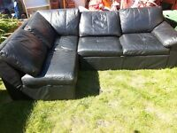 Leather corner sofa bed. Possible delivery