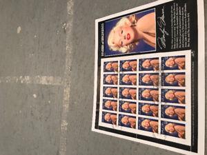 Marilyn Monroe stamps