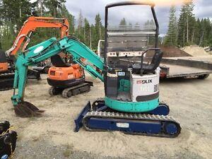 MINI excavator IS9UX,Zero tail swing,less 1000h,ISUZU engine