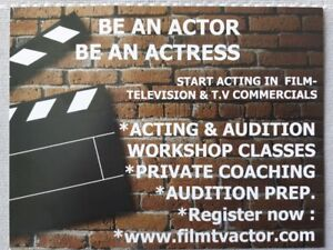 Acting Classes Be an Actor inFilm-Television - Commercials