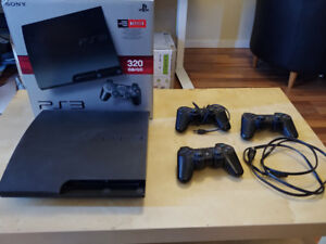 Playstation 3 with 3 Controllers & over 40 Games (PS1, PS2 PS3)