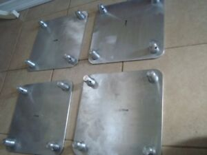 Set of 4 Global Truss  SQ-4137 Base Plate for F34 Square Truss (