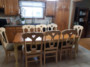 9 piece french country dining set .