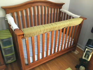 Solid Wood Convertible Crib/Bed and Dresser Combo