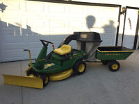 Hurry this will not last - 9 HP John Deere riding lawn mower.