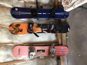 3 snowboards $20 per