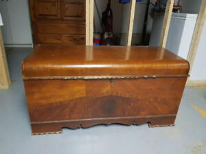 1940's Boshart & Sons Solid Wood Cedar Hope Chest FOR SALE