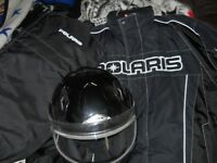 POLARIS SUIT AND ZOX HELMET