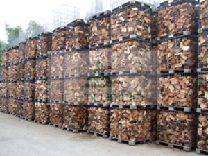 Firewood cages and sacks