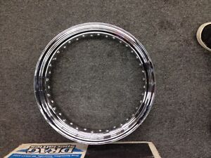 "DRAG SPECIALTIES STEEL CHROME RIM 16"" x 3.50"" 40 SPOKE"