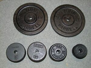 weights for sale. 35lb -$30 each, 5lb - $5 each, 2.5lb $2.50 eac London Ontario image 1