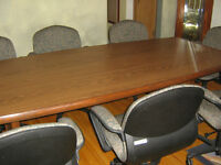 Board Room Table/8 Office Chairs - Price Reduced!