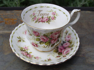 ROYAL ALBERT JUNE Flower of the Month Cup and Saucer EC London Ontario image 4