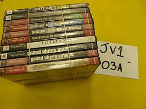 Lot de 10 Jeux de PS2 Play Station 2 - Ensemble #JV1-03A JV1-03B