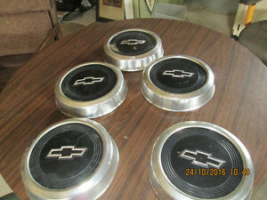 73 TO 87 chev 1/2 ton trucks --5--DOG DISH HUB CAPS