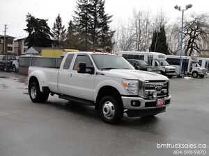 2012 FORD F-350 SUPER DUTY LARIAT EXT CAB DUALLY 4X4 LEATHER