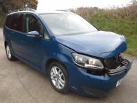 2012 Volkswagen Touran 1.6TDI ( 105ps ) SE DAMAGED SPARES OR REPAIR SALVAGE