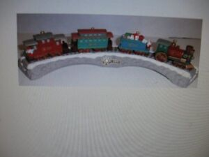 Hallmark Trains and Display Stand