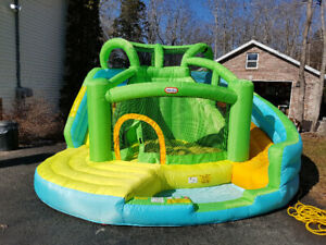 Bouncy castle with waterslide attachments!