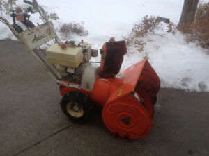 Ariens dual stage snowblower/moved to condo-newer electric start