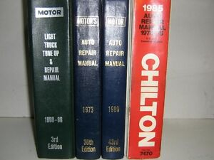 Motors,Chilton & Ford Repair Manuls
