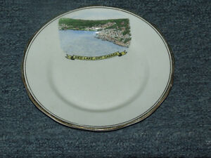 Royal Ascot Bone China plate, featuring Red Lake, Ontario