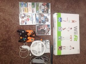 Wii system wii fit and games