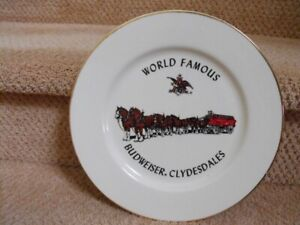 Budweiser Clydesdales Gold Rimmed Collector Plate