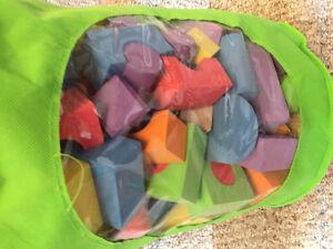 New! 200 piece foam blocks with case Kitchener / Waterloo Kitchener Area image 2