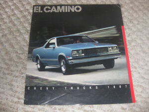 1987 El Camino vehicle brouchure Kitchener / Waterloo Kitchener Area image 1