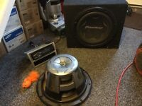 Pioneer Bass box and Radio, kenwood amp