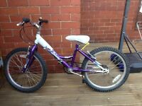 "Purple 18"" girls "" triumph wave"" bike."