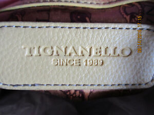 Beage Leather Tignanello Shoulder bag