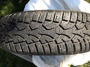 Like new 15 inch Studded Winter 205/65 Tire Strathcona County Edmonton Area image 2