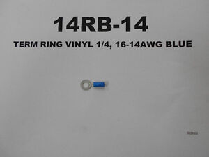 14RB-14 - TERM RING VINYL 1/4, 16-14AWG BLUE West Island Greater Montréal image 1
