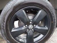 "18"" Matt black alloys, Bridgestone sport tyres"