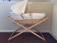 **open to offers** Moses basket and stand