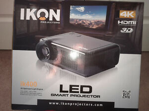 IKON-ik400-LED-Smart-Projector-4K-HDMI-3D-Brand-NEW-with-72-inc
