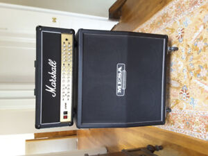 Marshall JVM 410h and Mesa Boogie 4x12 slanted cabinet