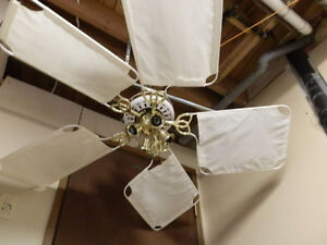 Ceiling fan White and Gold with 4-light